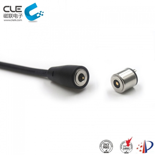 Dc round male & female magnetic power connector for gloves