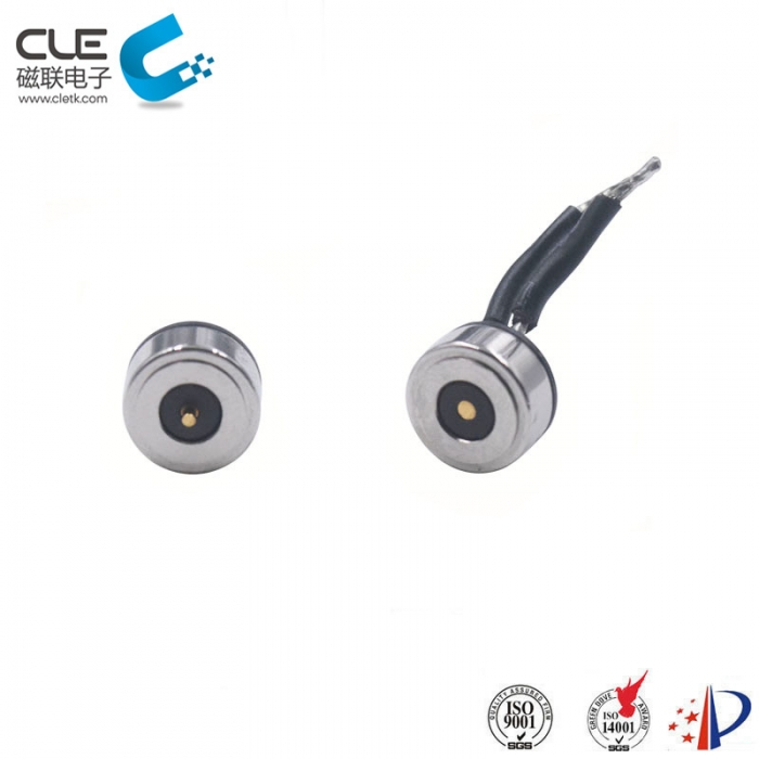 Round male and female magnetic charger connector