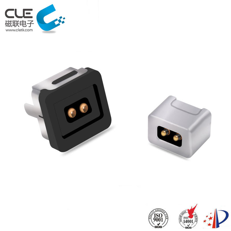 Round type magnetic dc power connector