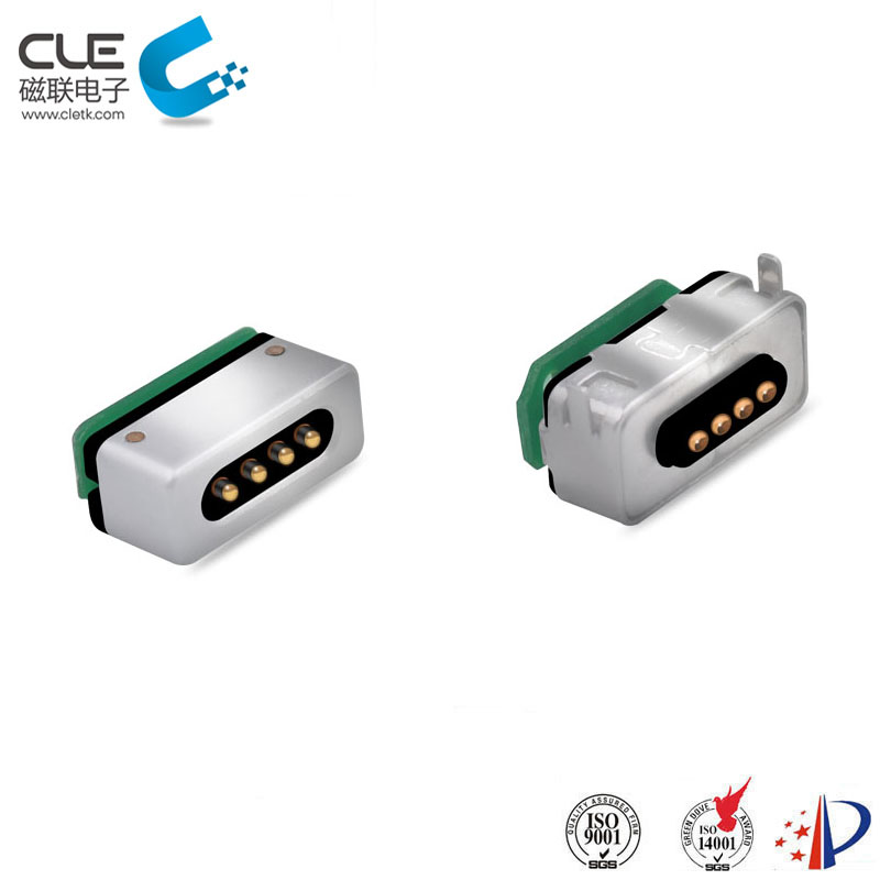 Custom 4 pin magnetic connector for charging