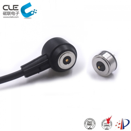 Round magnetic power cable connector factory