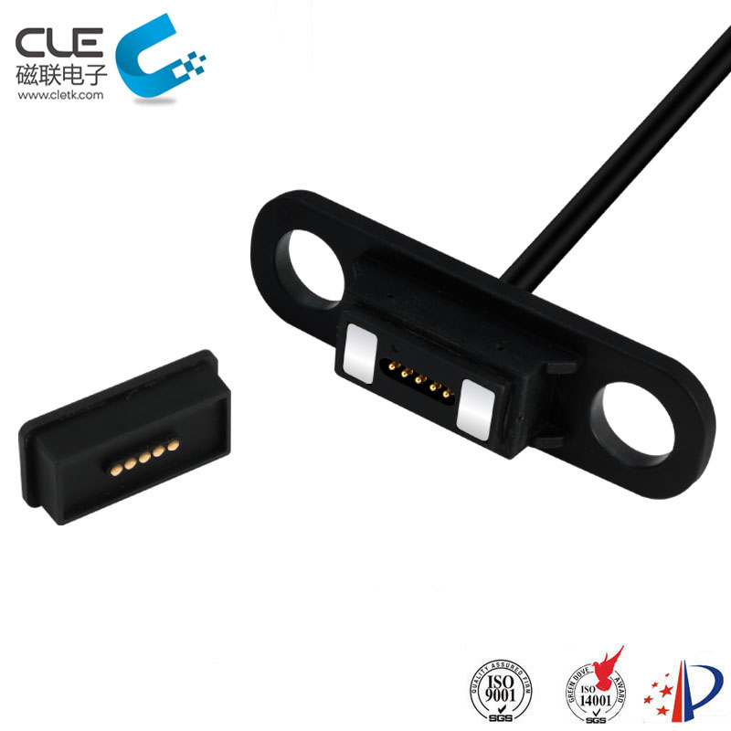 Magnetic charging electrical cable connectors for wheelchairs