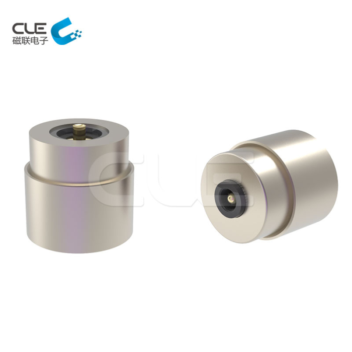Customized right angle magnetic pogo pin connector
