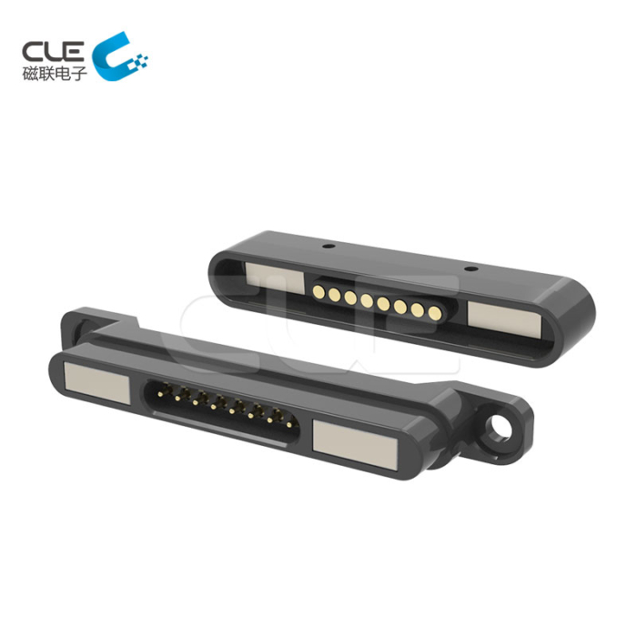 8Pin male and female magnetic electronic connectors