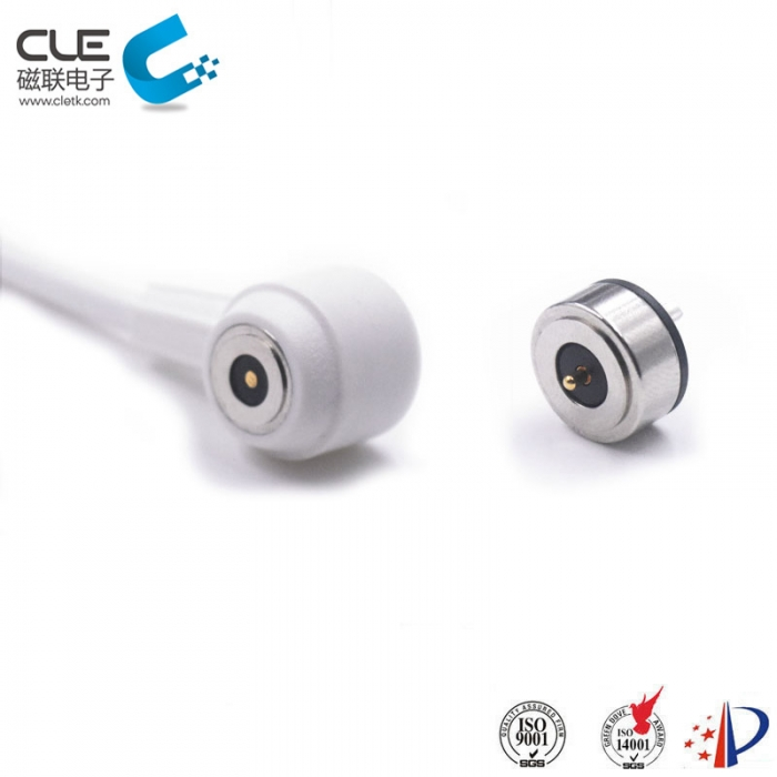 Round type male and female magnetic power cable connector