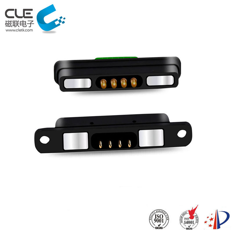 4 Pin male female magnetic connector for telephone