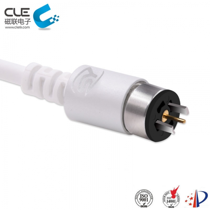 Round male and female charging magnetic cable