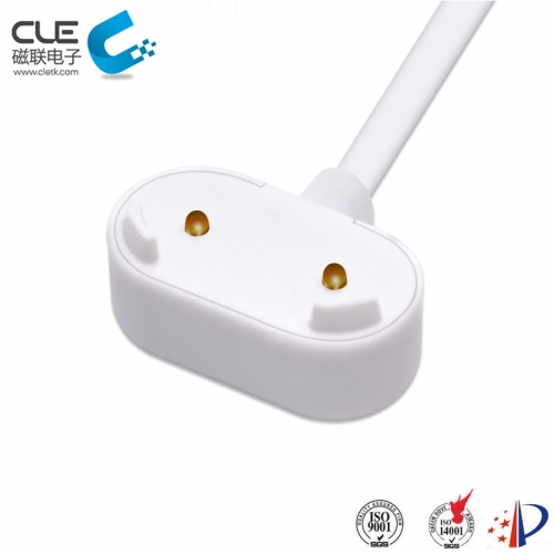 2 Pin magnetic charger cable connector for miner's lamp