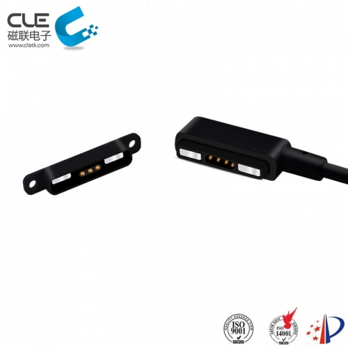 4Pin male and female magnetic usb cable charger connector