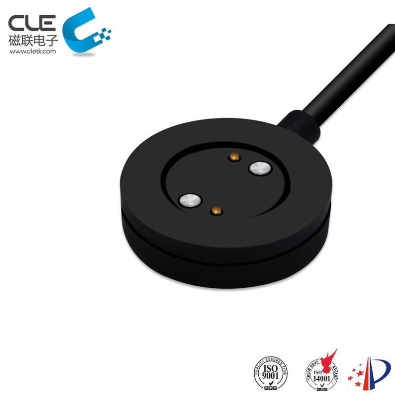 Round type usb magnetic charging cable connector