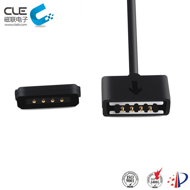 4 Pin connector male female magnetic cable connetor