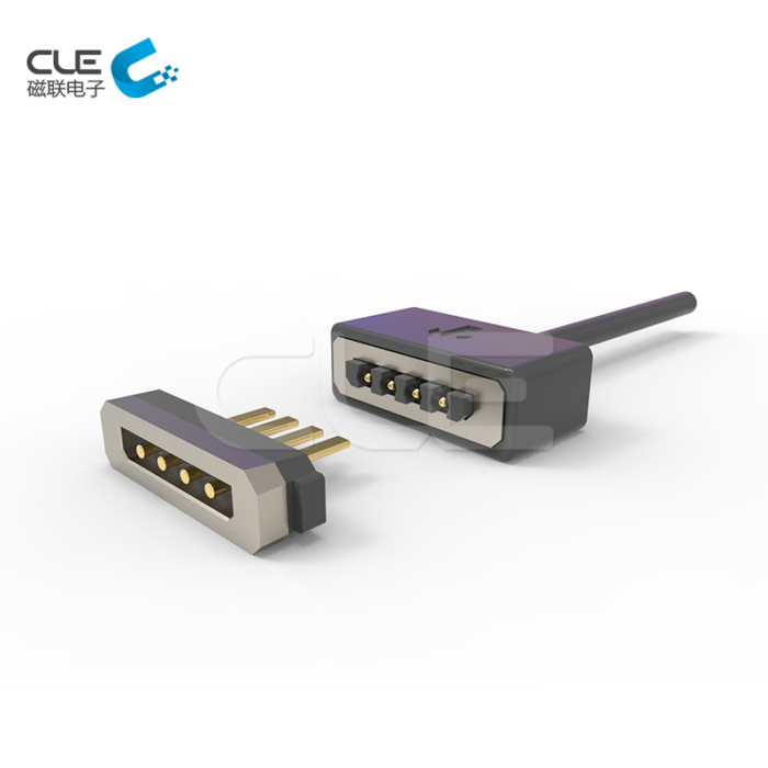 4 Pin connector male female magnetic cable connector