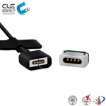 [CM-BP29101] 4 Pin magnetic connector with magnetic charging adapter.