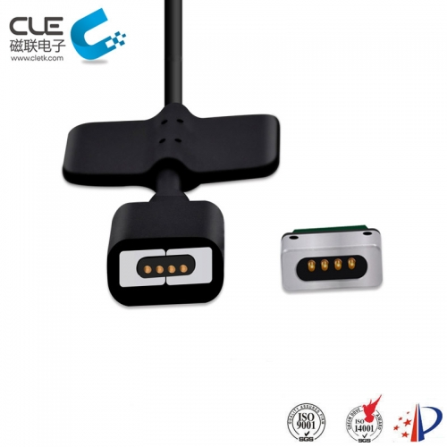 4 Pin magnetic connector with magnetic charging adapter