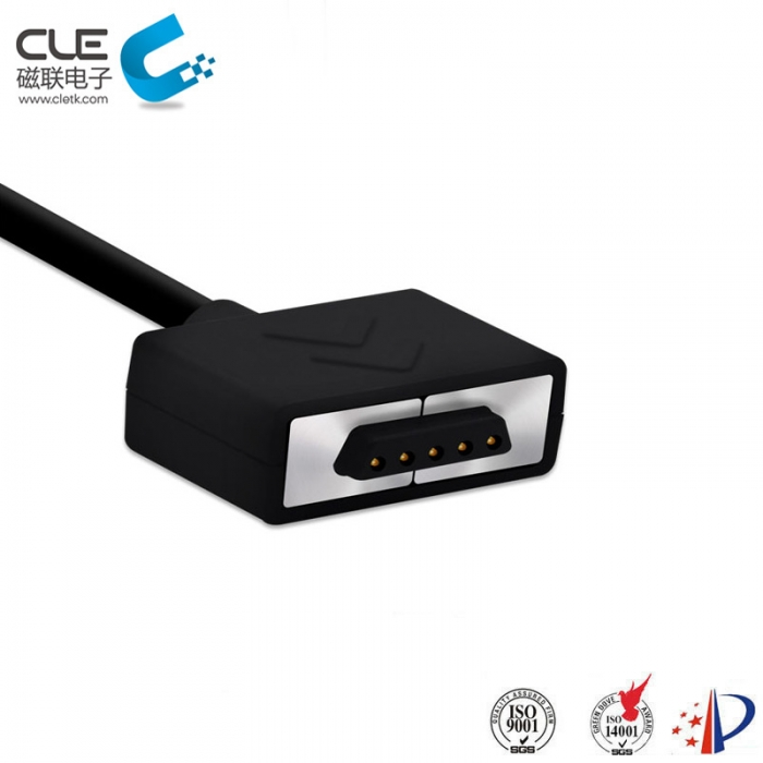 CLE customized 5pin magnetic pin connector for mobile phone