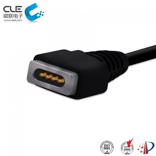Custom magnetic pins 4 pin magnetic usb cable connector