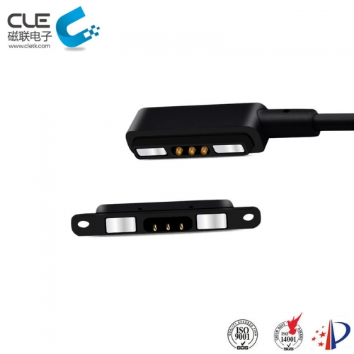 Magnetic charge cable with 3 pin cable connector