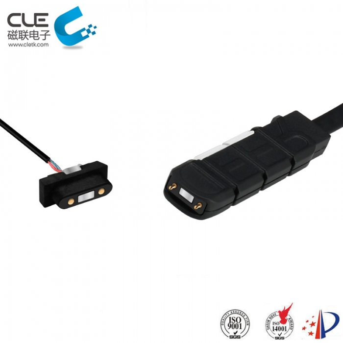 2 Pin electrical connector with usb magnetic charger