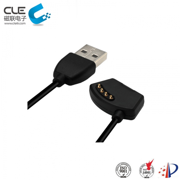 4 Pin usb magnetic charger cable connector for smart watch
