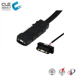 [CM-BP69311] 2 Pin electrical connector with usb magnetic charger