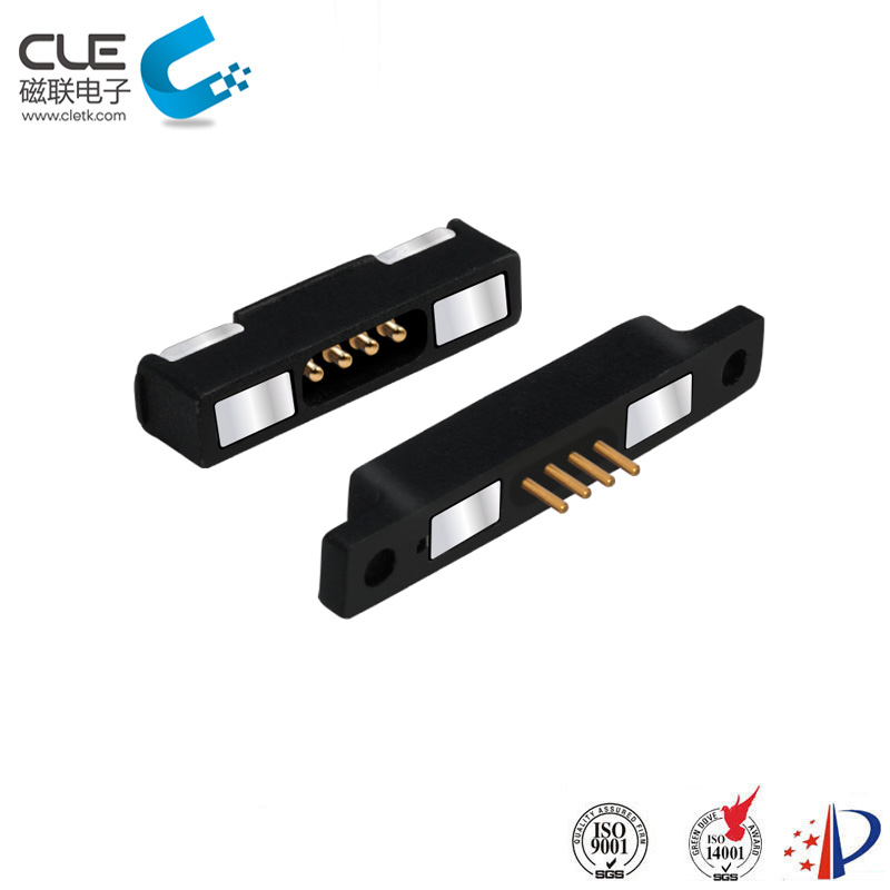 Male and female magnetic wire connectors for medical equipment