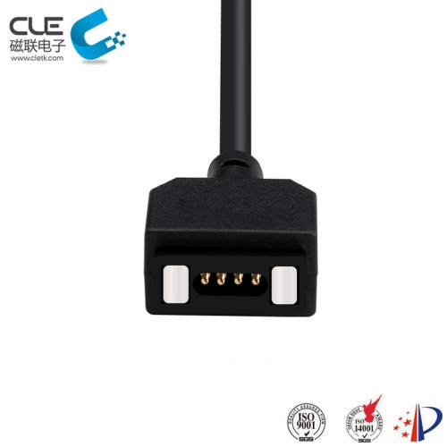 4 Pin power connector with usb magnetic charging