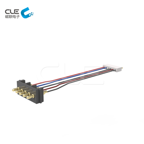 Customized pogo pin connector with cable