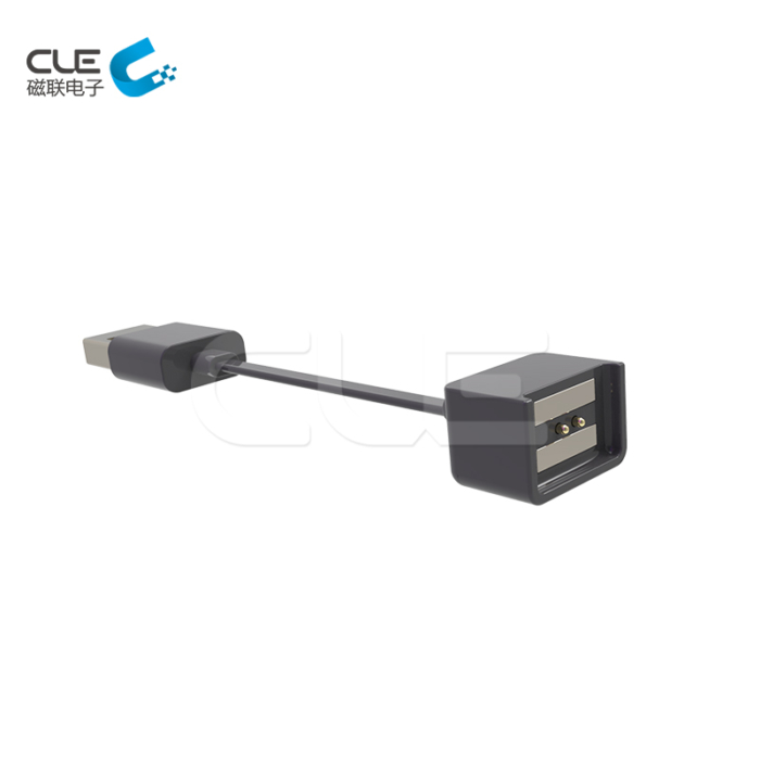 Pogo pin magnetic connector with magnetic pogo pin charger