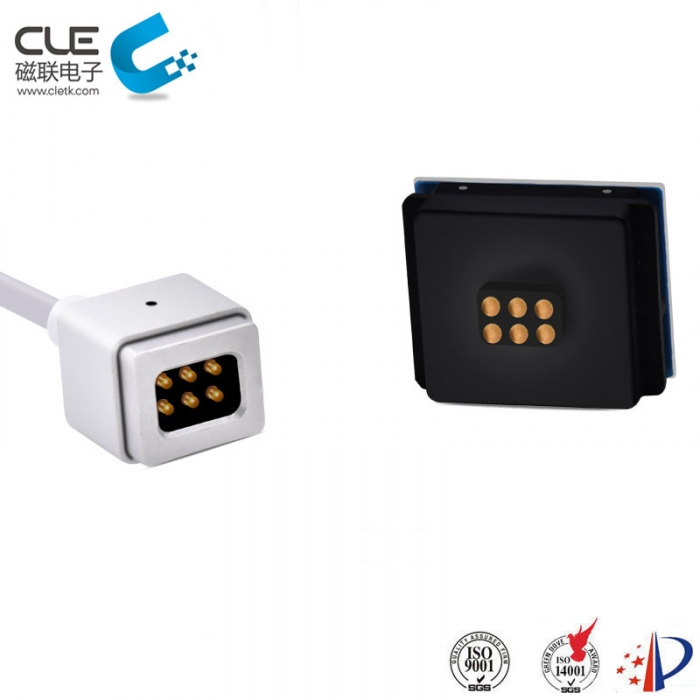 6 Pin electrical connector magnetic power cable connector