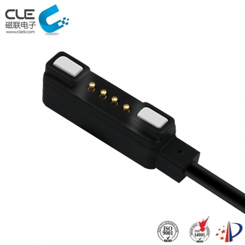 Fast magnetic usb 4 pin pogo charger connector for tracking device