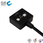 [CM-BP25611]  Square 3 pin magnetic charger pogo pin cable connector