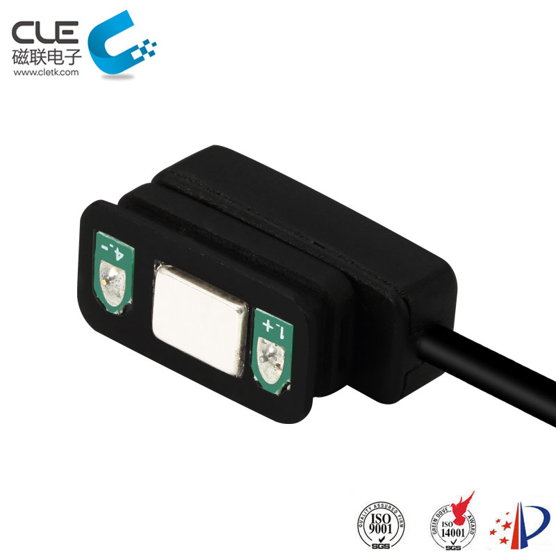 Waterproof magnetic pogo pin usb connector for outdoor headlight