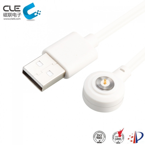 Round white magnetic charging cables for smart water cup