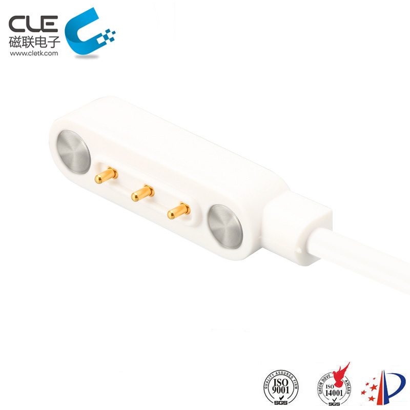 3 Pin magnetic dc power connector with cable for air cleaner
