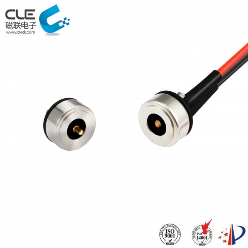 Magnetic pogo pin male & female connector for bike light