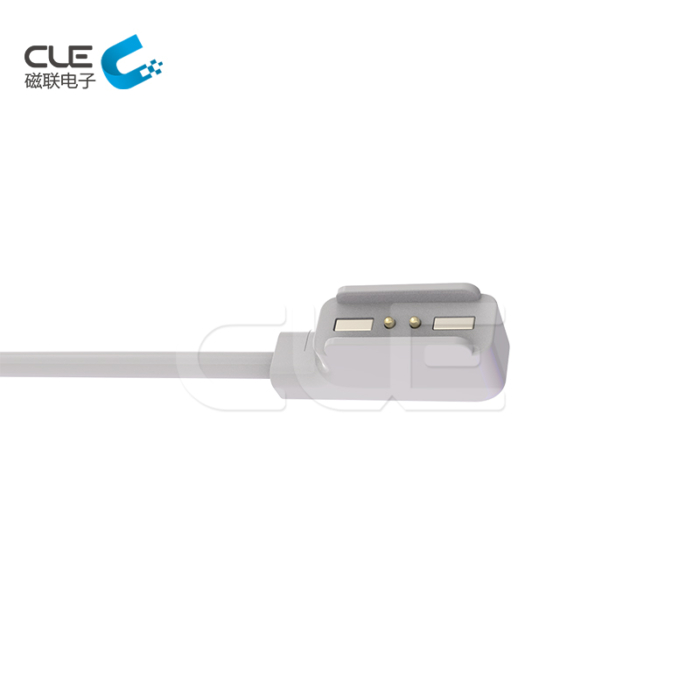 High quality white 2 pin magnetic and pogo pin connectors