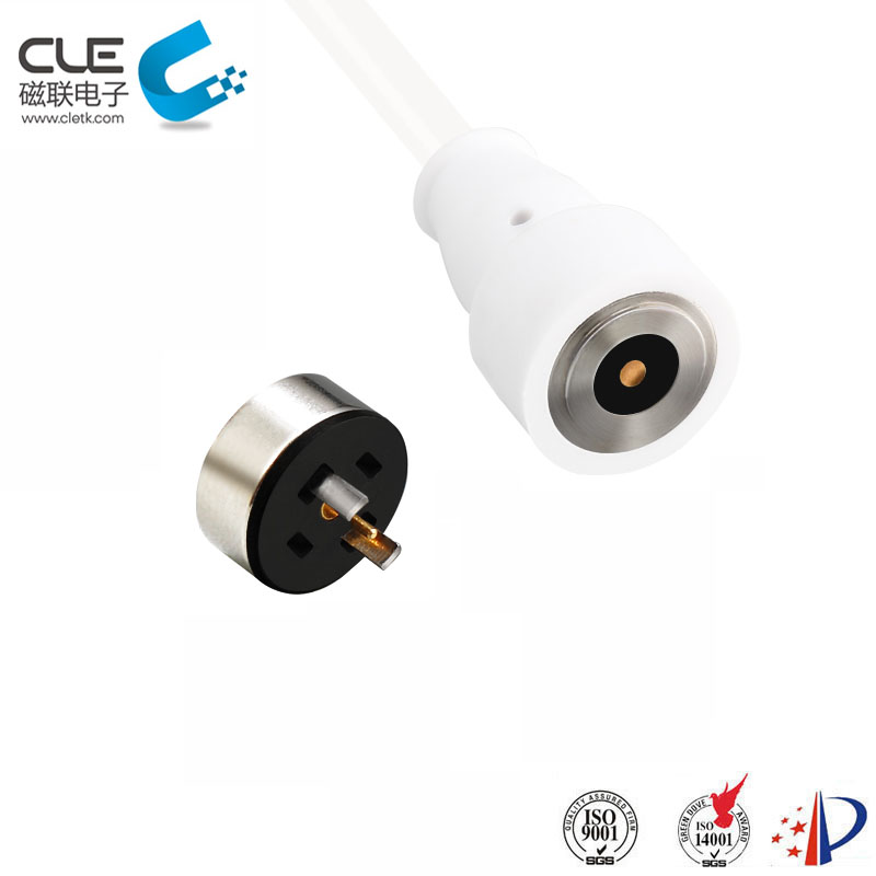 Custom round magnetic charging contacts for humidifier
