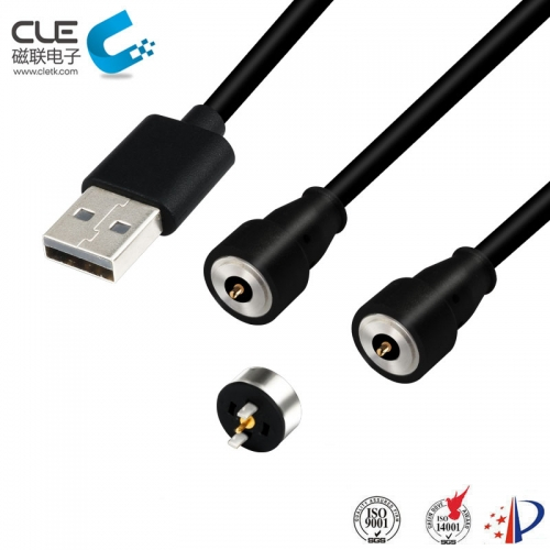 Custom male and female magnetic usb cable for smart shoes