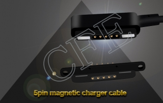 5pin pogo pin magnetic cable changer