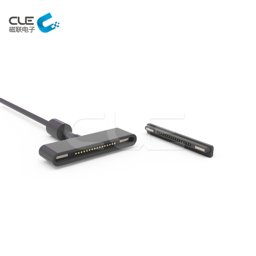 16 Pin male and female magnetic charging cable connector for tablet