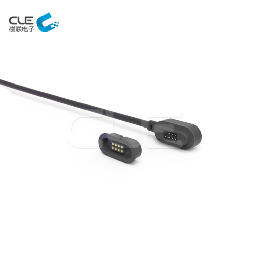 6 Pin electrical male and female magnetic cable connector for smart curtain