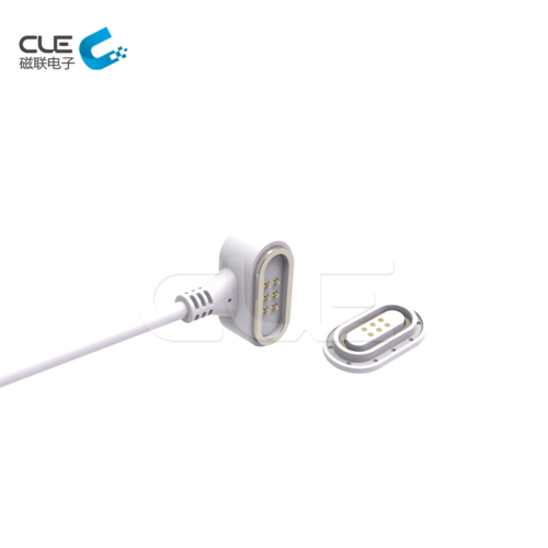 DC magnetic power cable connector for medical equipment
